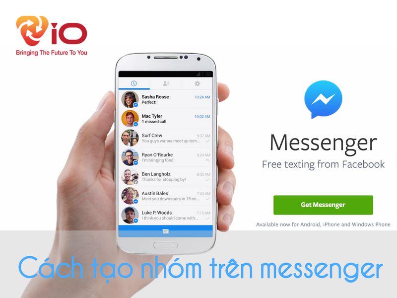 cách tạo nhóm trên messenger