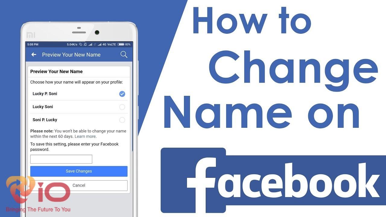 cách đổi tên trên facebook